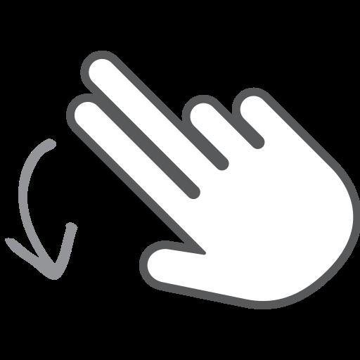 down, finger, gesture, hand, interactive, scroll, swipe icon