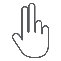 fingers, gesture, hand, interactive, scroll, swipe icon