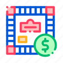 game, interactive, kids, monopoly icon