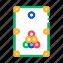 billiard, game, interactive icon