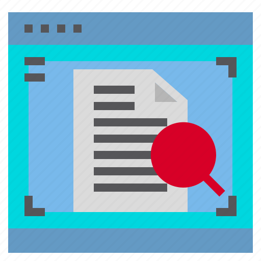 Document, glass, interface, magnifying icon - Download on Iconfinder