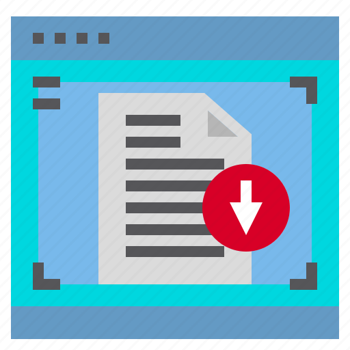 Document, download, interface, computer, data icon - Download on Iconfinder
