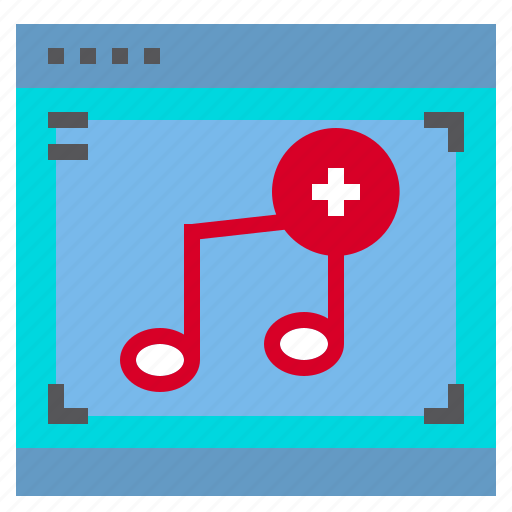 Interface, music, plus, computer, song icon - Download on Iconfinder