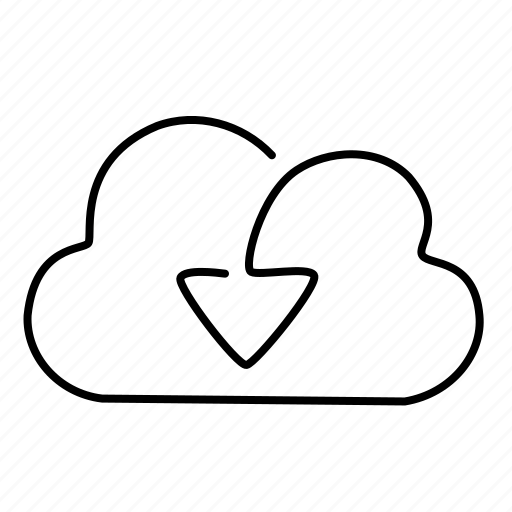 cloud, download, load icon