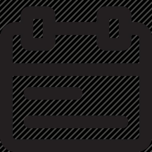 agenda, app, interface, ui, ux icon