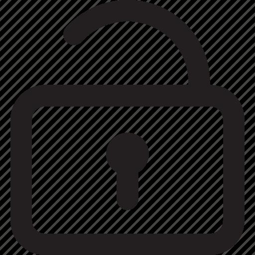 interface, lock, secure, ui, unlock icon