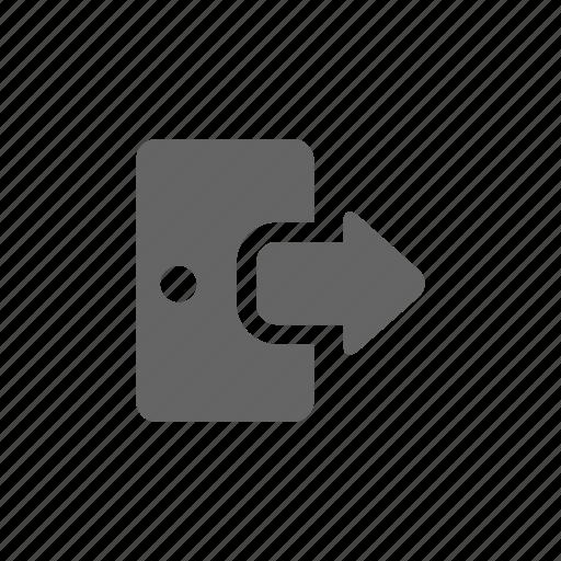 exit, logout icon