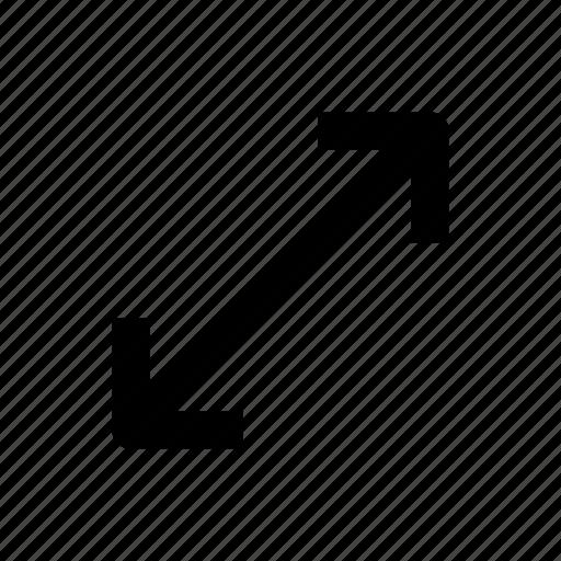 arrow, arrows, direction, expand, interface, maximize, stretch icon