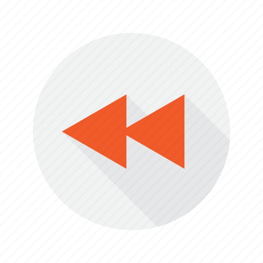 back, interface, rewind icon