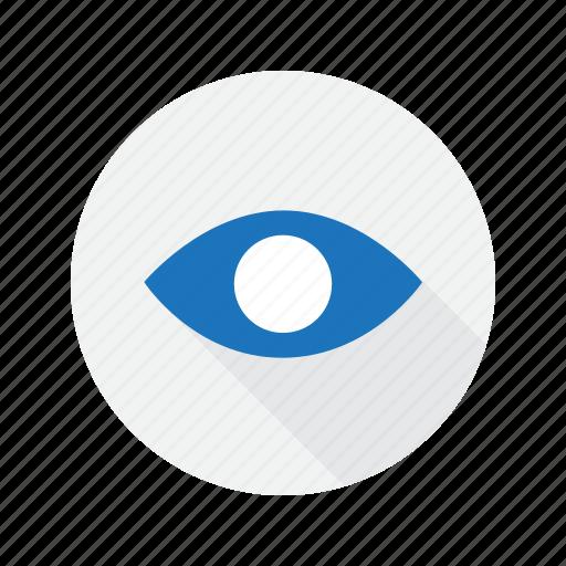eye, interface, user, view icon