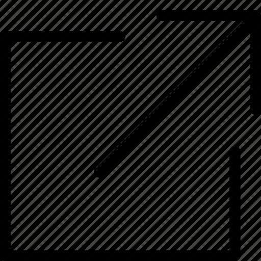 fullscreen, maximize, view, zoom icon