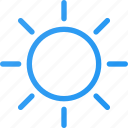 brightness, high, interface, light, sun icon