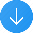 arrow, down, download, download button icon