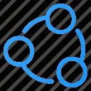 circle, interface, media, share, social icon