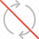 arrow, circle, disabled, refresh, reload, sync icon