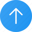 arrow, up, upload, upload button icon