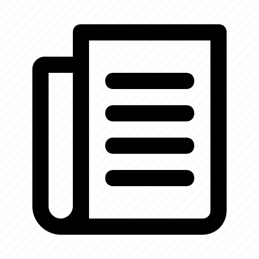 article, headline, interface, news, newspaper icon