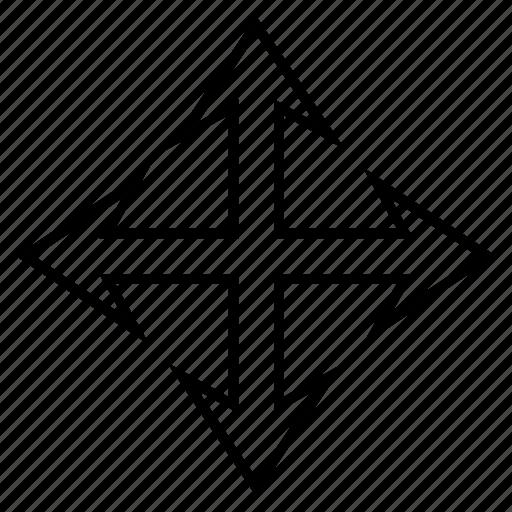 enlarge, expand arrows, full screen, fullscreen, increase, maximize, resize icon