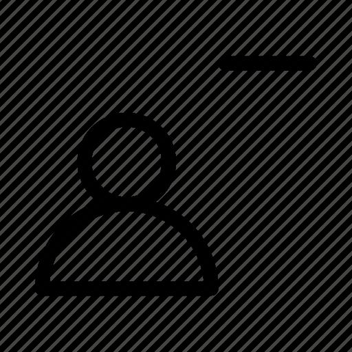 account, gui, profile, remove, user, web icon