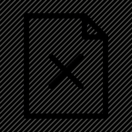 delete, document, file, gui, web icon