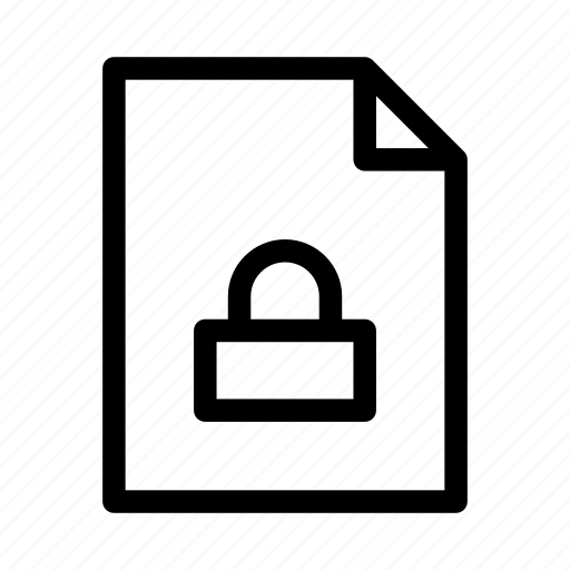 document, file, gui, locked, web icon