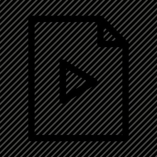 document, file, gui, video, web icon