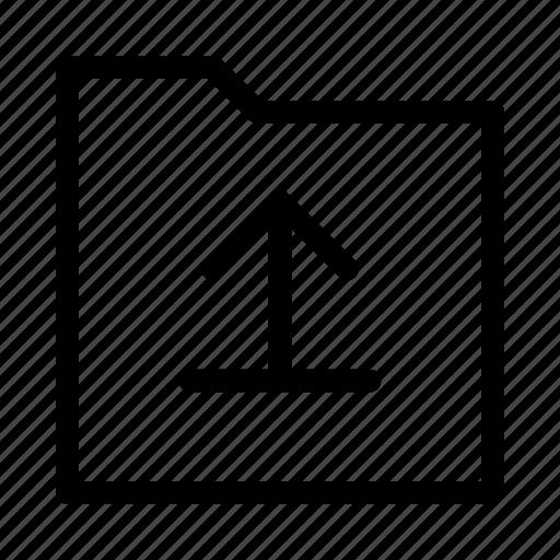 arrow, folder, gui, upload, web icon