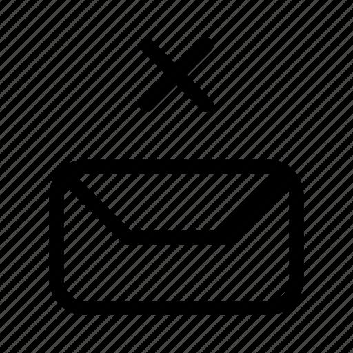 envelope, gui, mail, remove, send, web icon