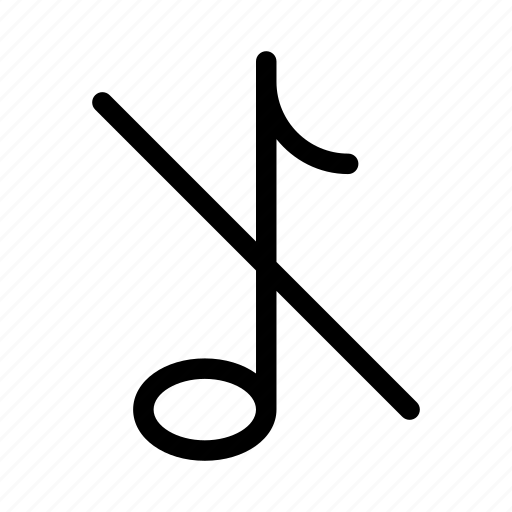 audio, gui, music, note, silent, web icon