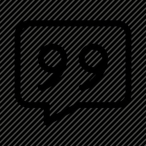 bubble, chat, contact, gui, quote, speech, web icon