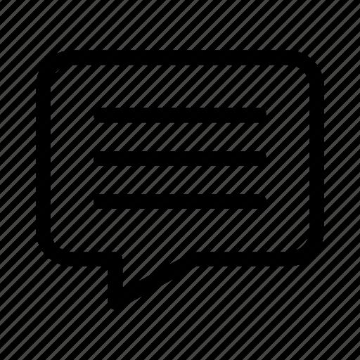 bubble, chat, contact, gui, speech, text, web icon