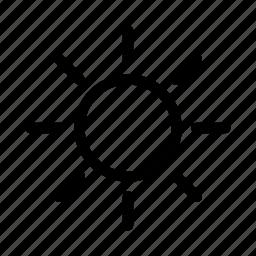brighntess, bright, gui, light, sun, web icon