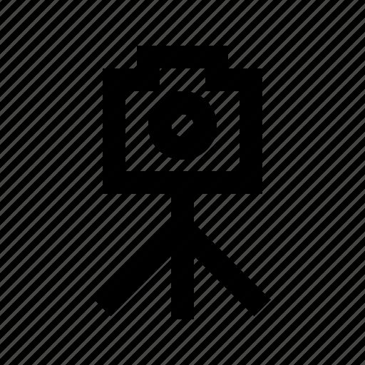 camera, gui, media, multimedia, photo, tripod, web icon
