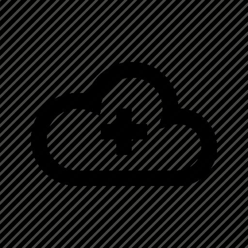 add, cloud, gui, network, transfers, web icon