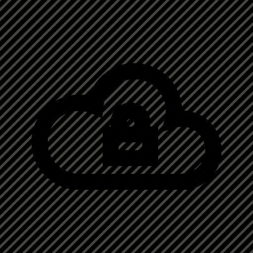 cloud, gui, lock, network, transfers, web icon