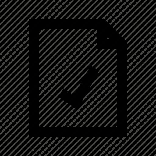 checked, document, file, gui, web icon