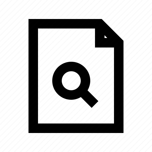 document, file, gui, search, web icon