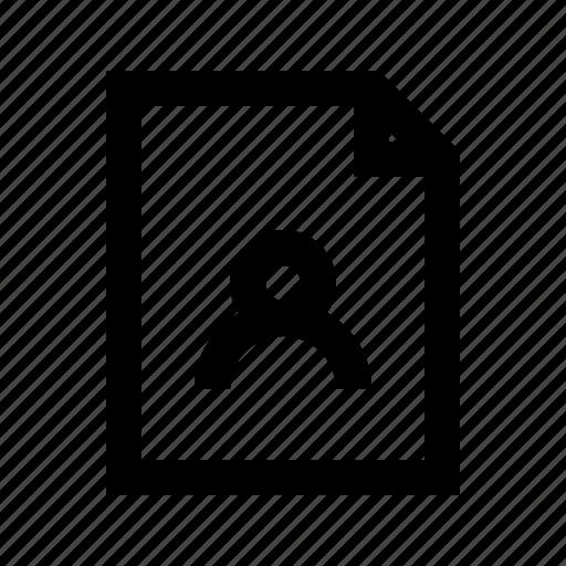 document, file, gui, user, web icon