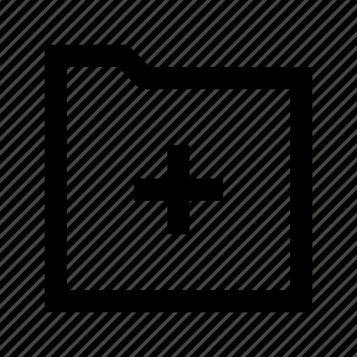 add, arrow, folder, gui, web icon