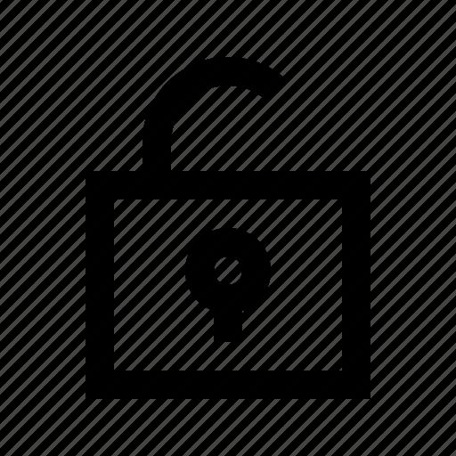 gui, lock, protect, security, unlock, web icon