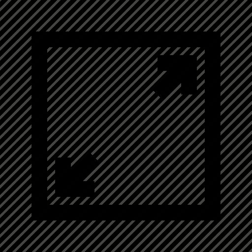 arrows, gui, maximize, scale, web icon