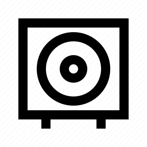 bass, gui, media, multimedia, speaker, subwoofer, web icon