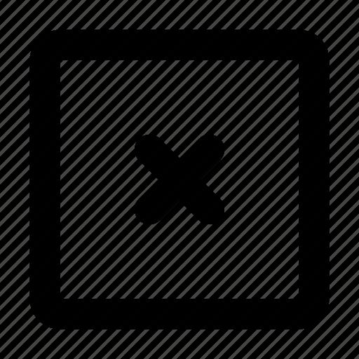 close, cross, delete, error, remove icon