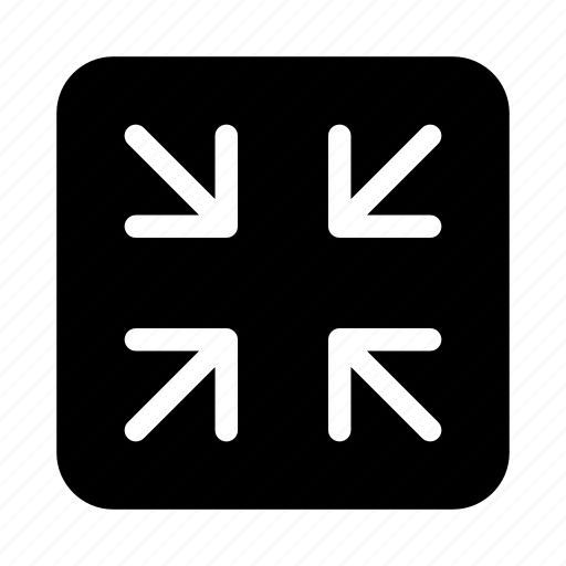 arrows, gui, minimize, scale, web icon