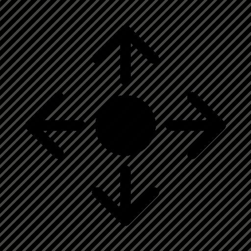arrows, drag, gui, move, web icon