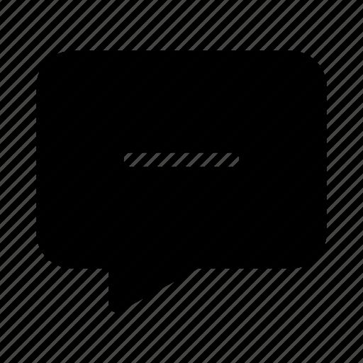 bubble, chat, contact, delete, gui, speech, web icon