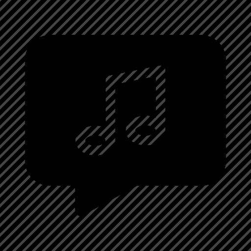 bubble, chat, contact, gui, music, speech, web icon