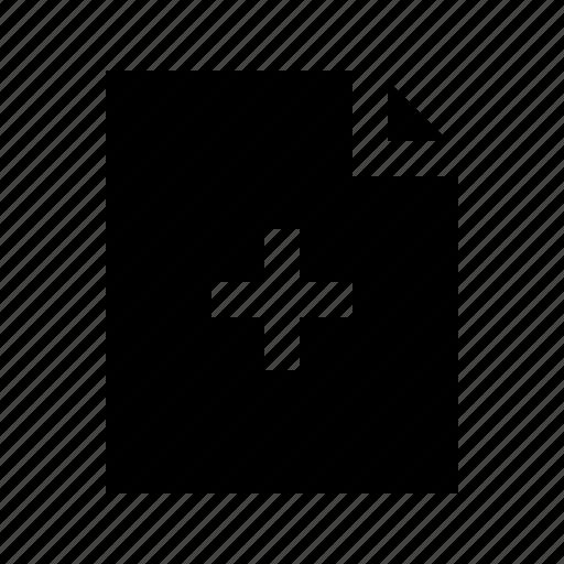 add, document, file, gui, web icon