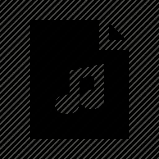 document, file, gui, music, web icon