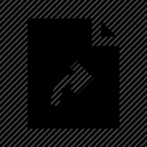 document, file, gui, share, web icon